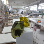 Osmosi Furniture - Work in Progress - Carrara Marble and Hand Blown Glass Murano