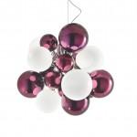 Digit Light Regular - Ceiling - Mirrored Purple and White Lattimo