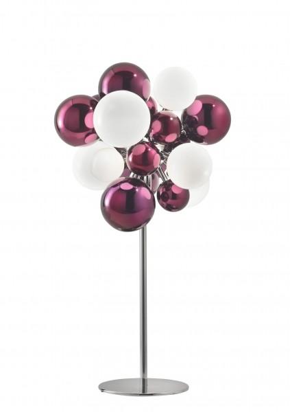 Digit Light Regular - Standing - Mirrored Purple and White Lattimo