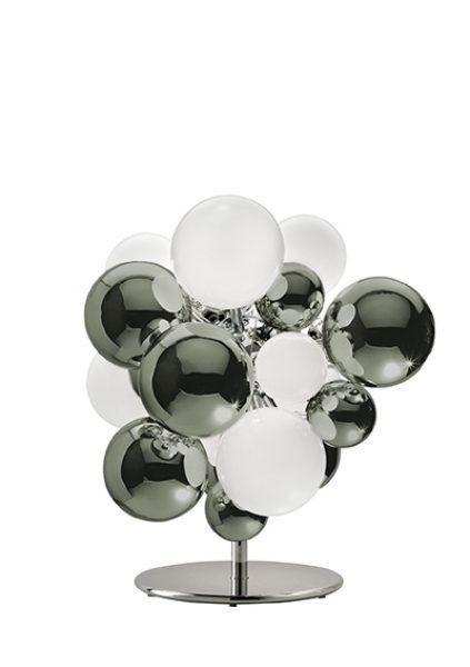 Digit Light Regular - Floor - Mirrored Bronze Grey and White Lattimo