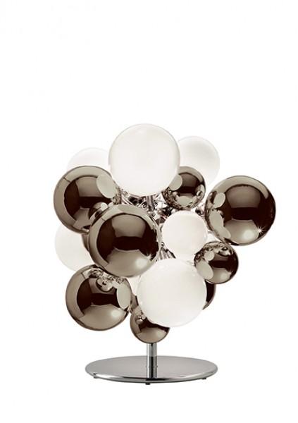 Digit Light Regular - Floor - Mirrored Warm Grey and White Lattimo