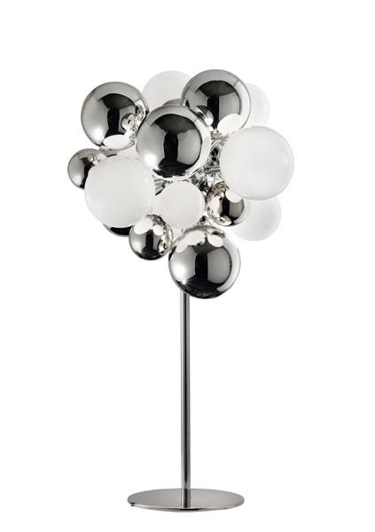 Digit Light Regular - Standing - Mirrored Crystal and White Lattimo