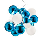 Digit Light Regular - Ceiling - Mirrored Acquamarine and White Lattimo
