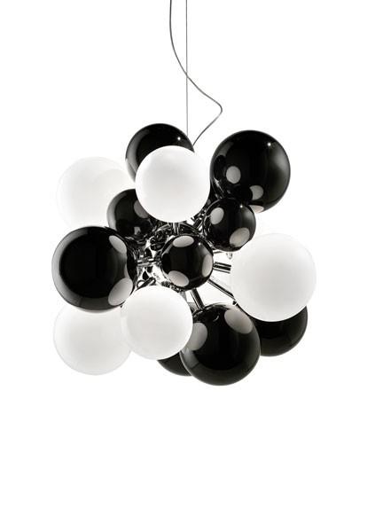Digit Light Regular - Ceiling - Black and White Lattimo