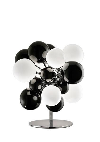 Digit Light Regular - Floor - Black and White Lattimo