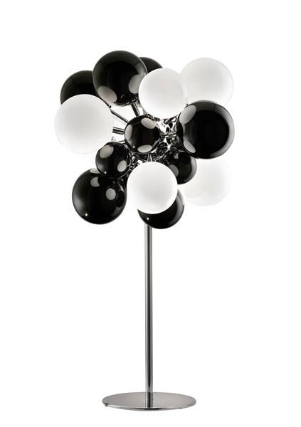 Digit Light Regular - Standing - Black and White Lattimo
