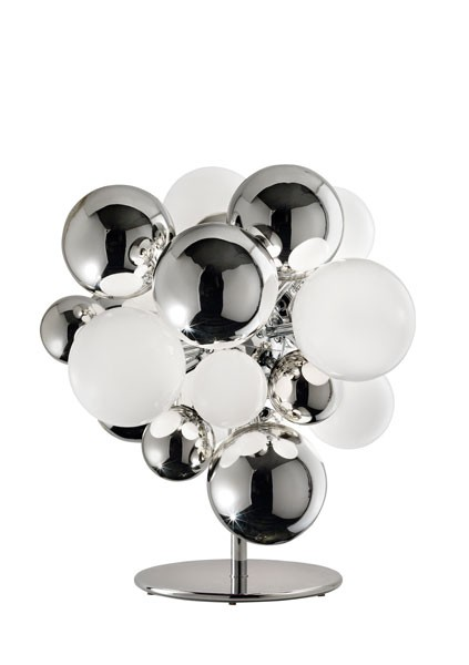 Digit Light Regular - Floor - Mirrored Crystal and White Lattimo