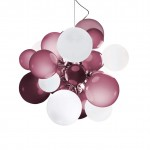 Digit Light Regular - Ceiling - Soft Hazy Purple and White Lattimo