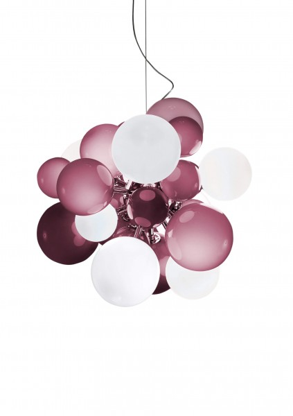 Digit Light Regular - Ceiling - Soft Hazy Purple and White Lattimo