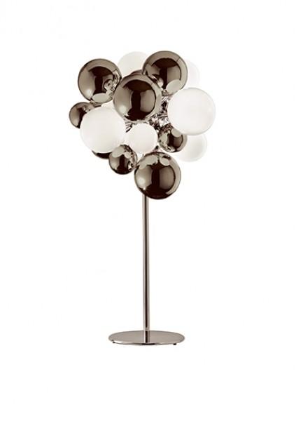 Digit Light Regular - Standing - Mirrored Warm Grey and White Lattimo