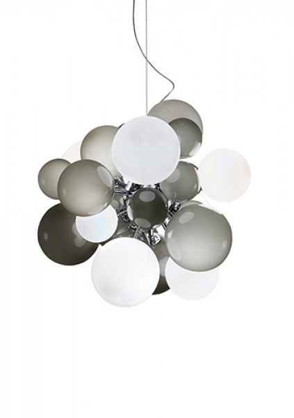 Digit Light Large - Ceiling - Soft Grey and White Lattimo