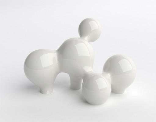 Naturellement IV, color: white, dimensions: 56 x 42 x 46cm