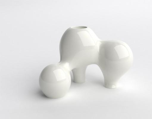 Naturellement V, color: white, dimensions: 57 x 45 x 35cm