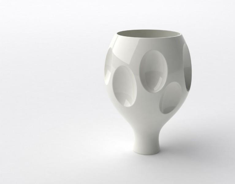 Naturellement III, color: white, dimensions: 30 x 42cm
