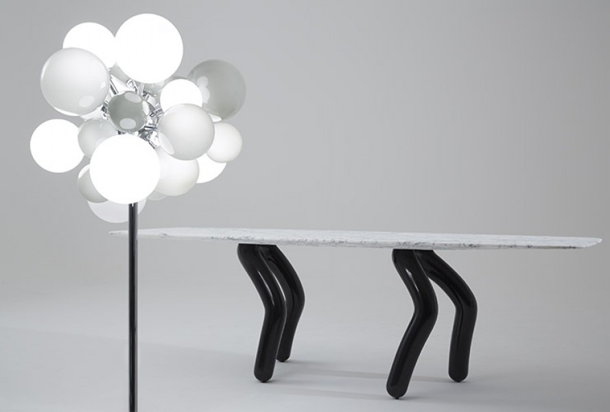 Stepp Table and Digit Light Regular Soft Grey