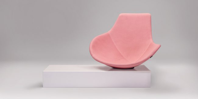 Pink marble Babled chair