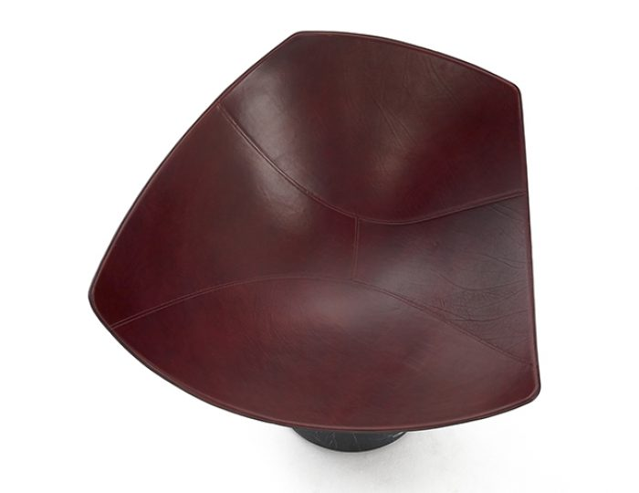 Jangada, Marquina marble, leather in Rosso Inglese