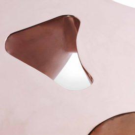 Detail of Quark Copper – 3 elements, polished and varnished